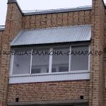 Krysha balkona pryamaya