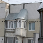 Krysha balkona cink
